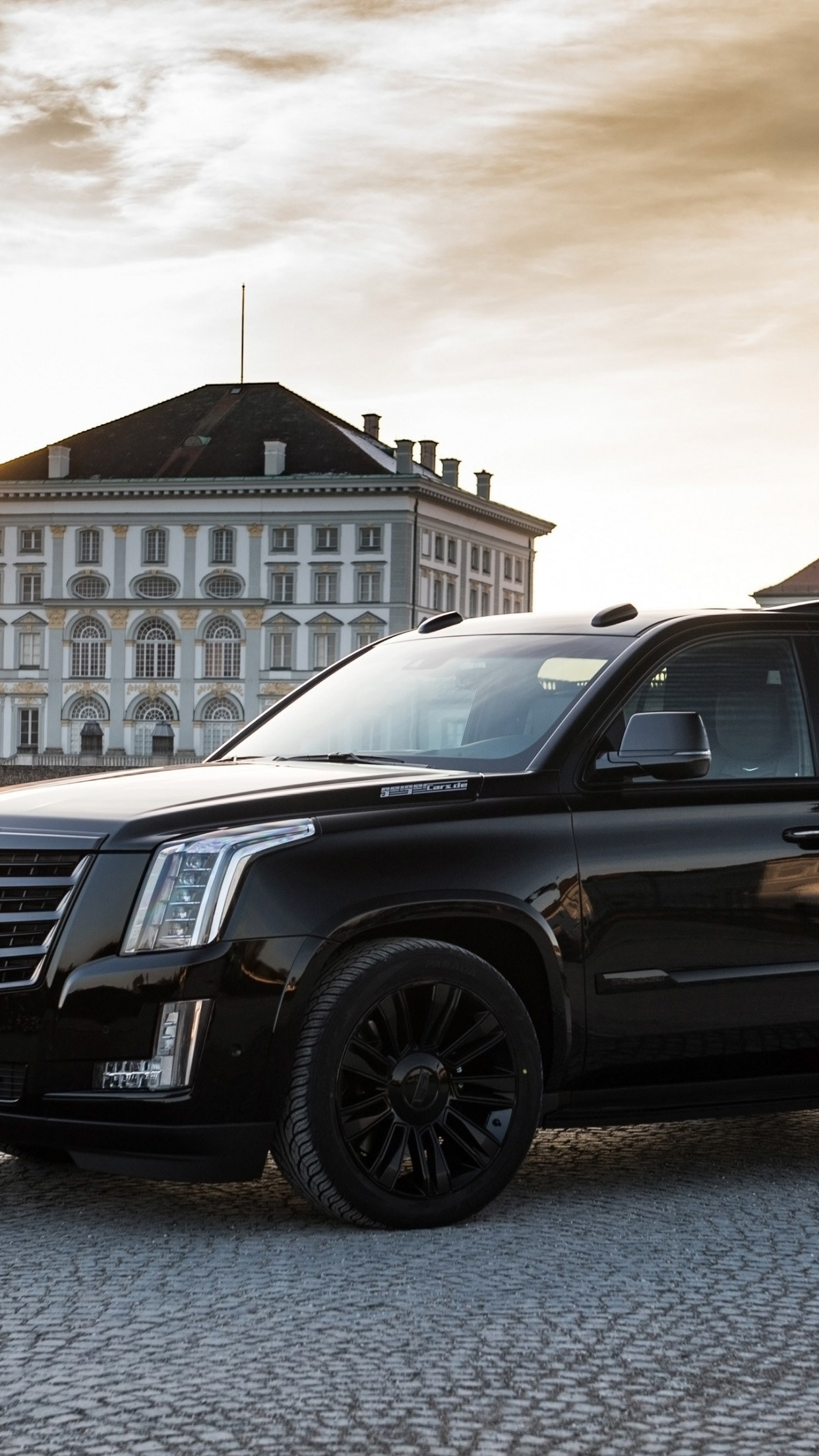 GeigerCars Cadillac Escalade Black Edition wallpaper 1242x2208
