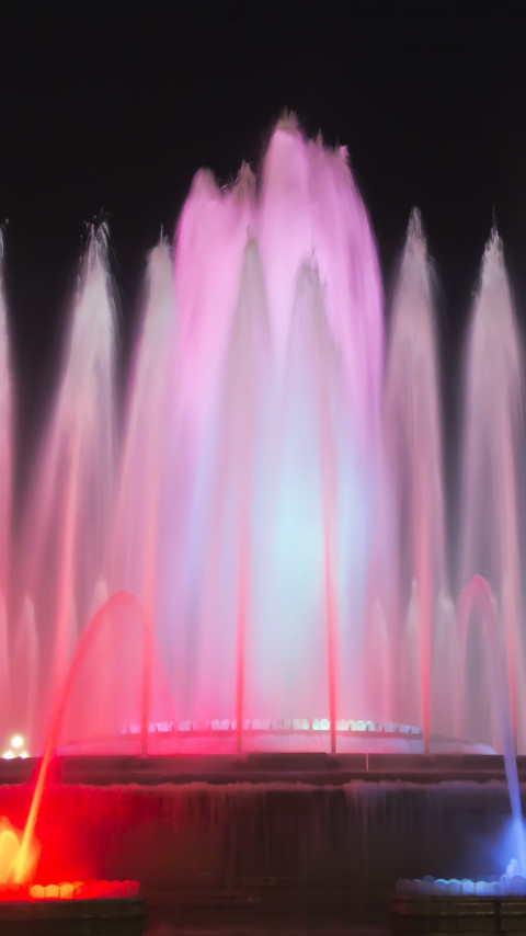 Fountains in Barcelona | 480x854 wallpaper