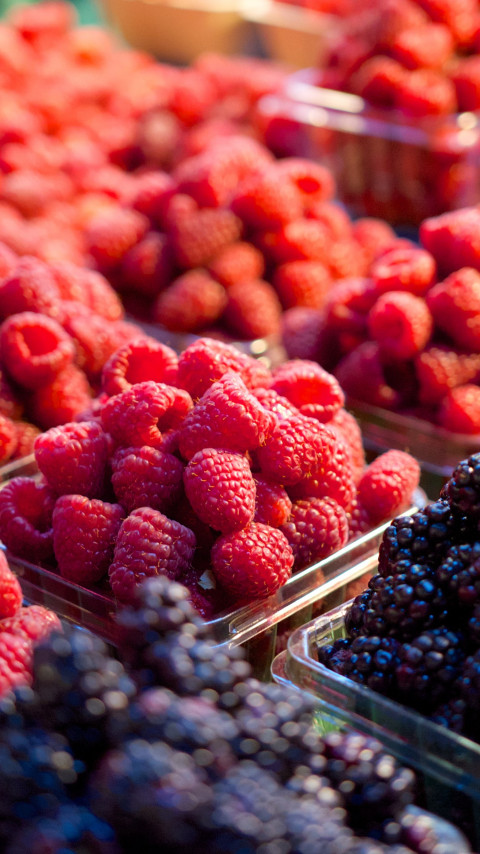 Fresh fruits at market wallpaper 480x854