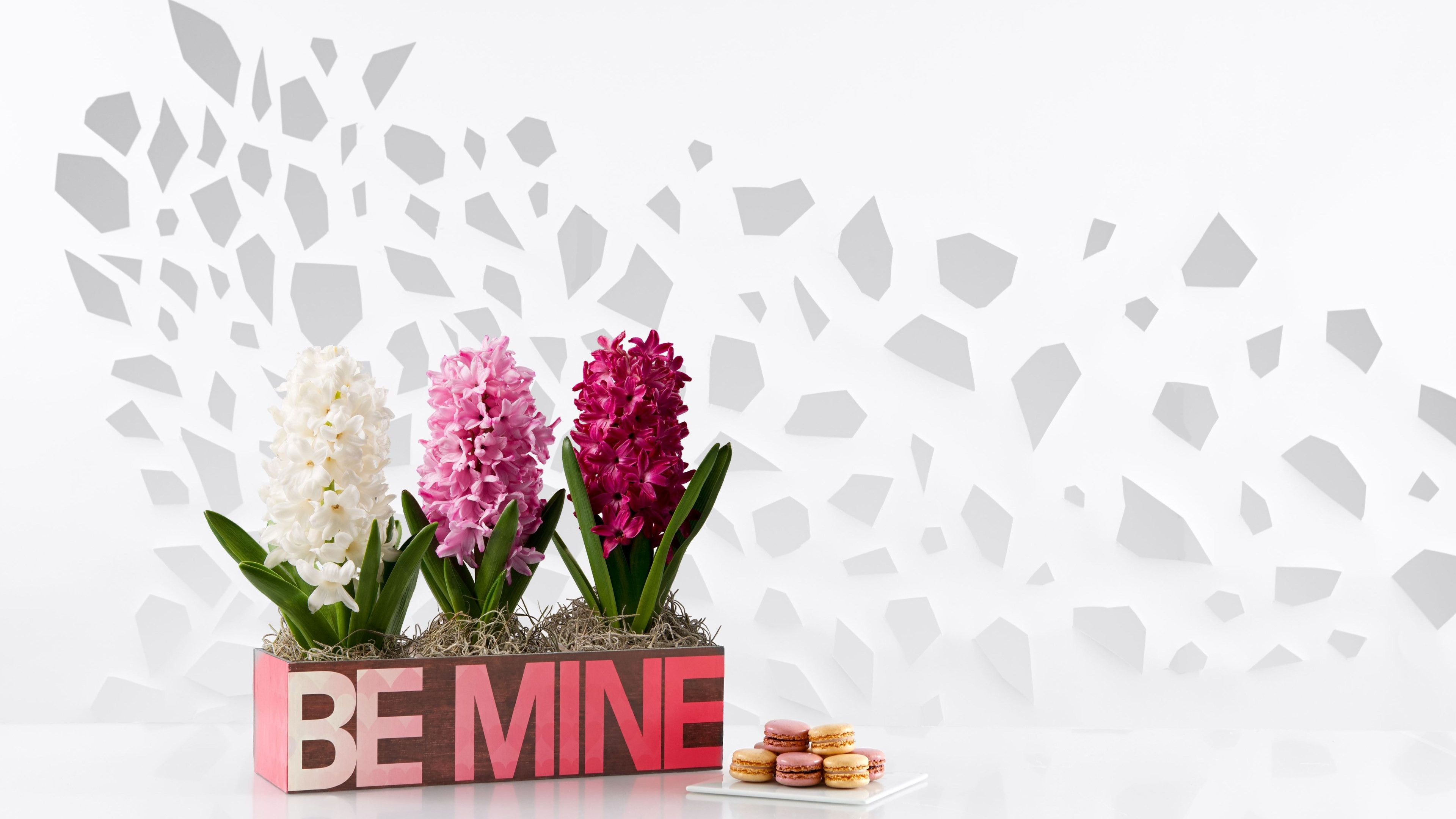 Flowers, be mine, cookies | 3840x2160 wallpaper