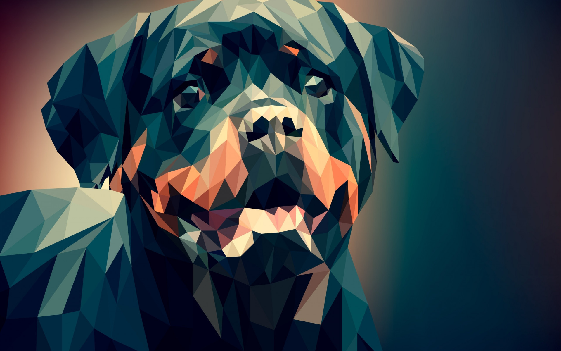 Low Poly Illustration: Rottweiler wallpaper 1920x1200