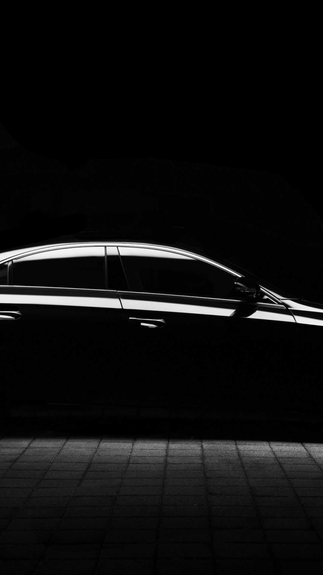 Silhouette of a Mercedes car | 1080x1920 wallpaper