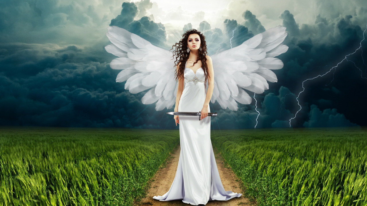 Illustration: Angel art | 1280x720 wallpaper