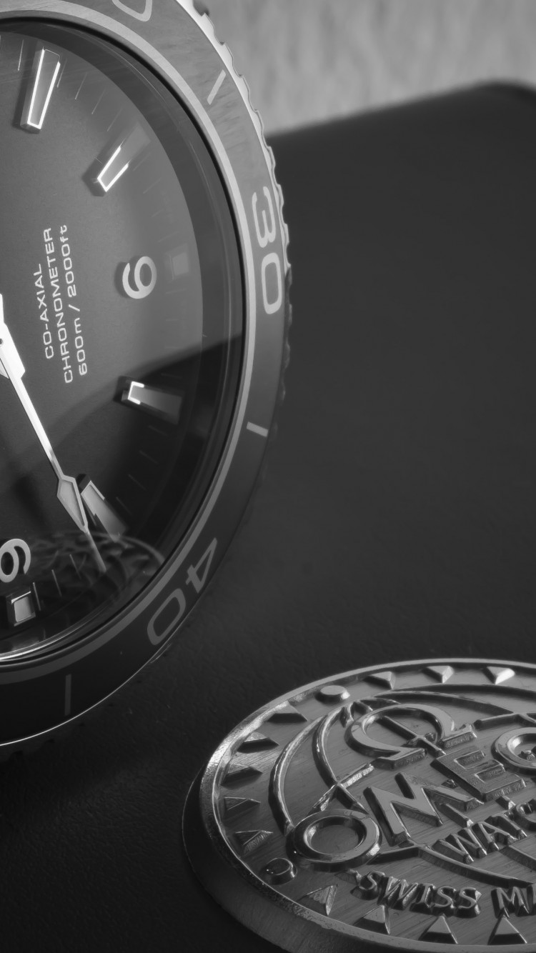 Omega Seamaster watch wallpaper 750x1334