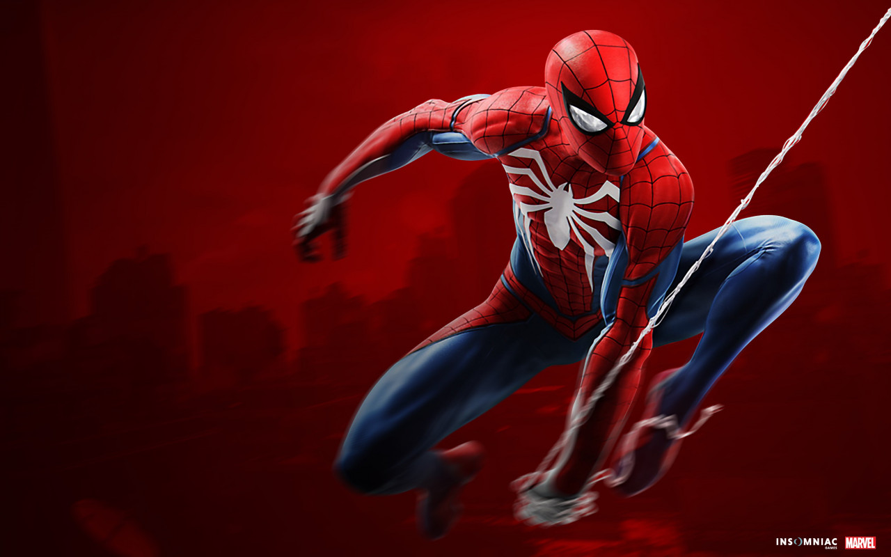 Spider Man game on PS4 wallpaper 1280x800