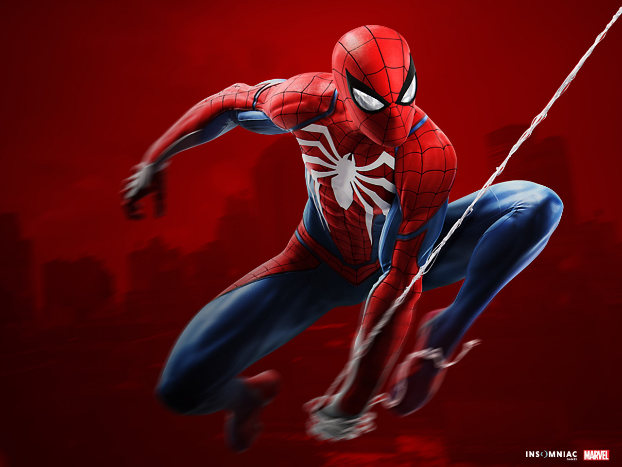 Spider Man game on PS4 wallpaper 1280x960