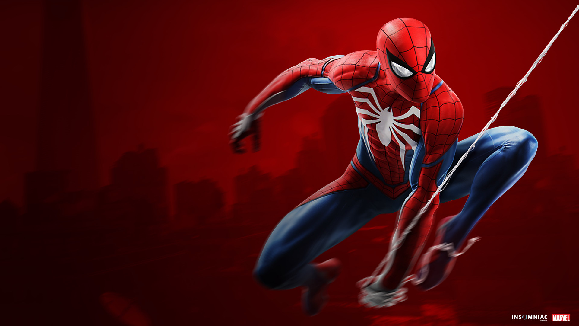 Game Of Spider Man Hd Wallpaper: Download Wallpaper: Spider Man Game On PS4 1920x1080