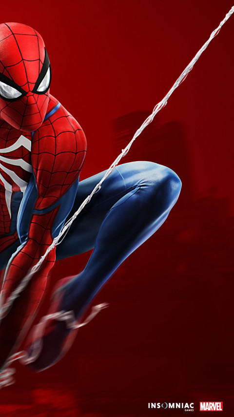 Spider Man game on PS4 wallpaper 480x854