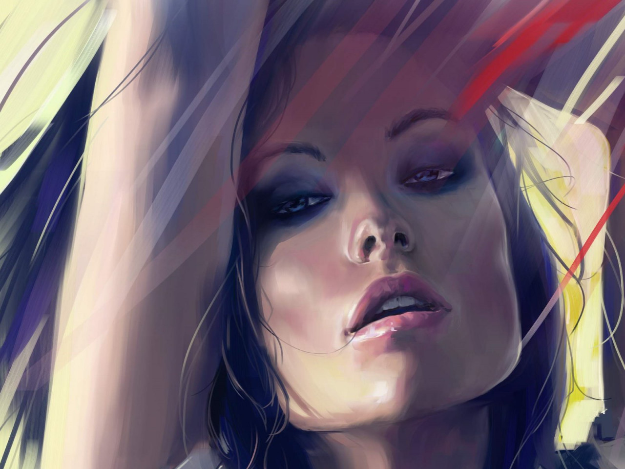 Olivia Wilde digital art portrait wallpaper 1280x960