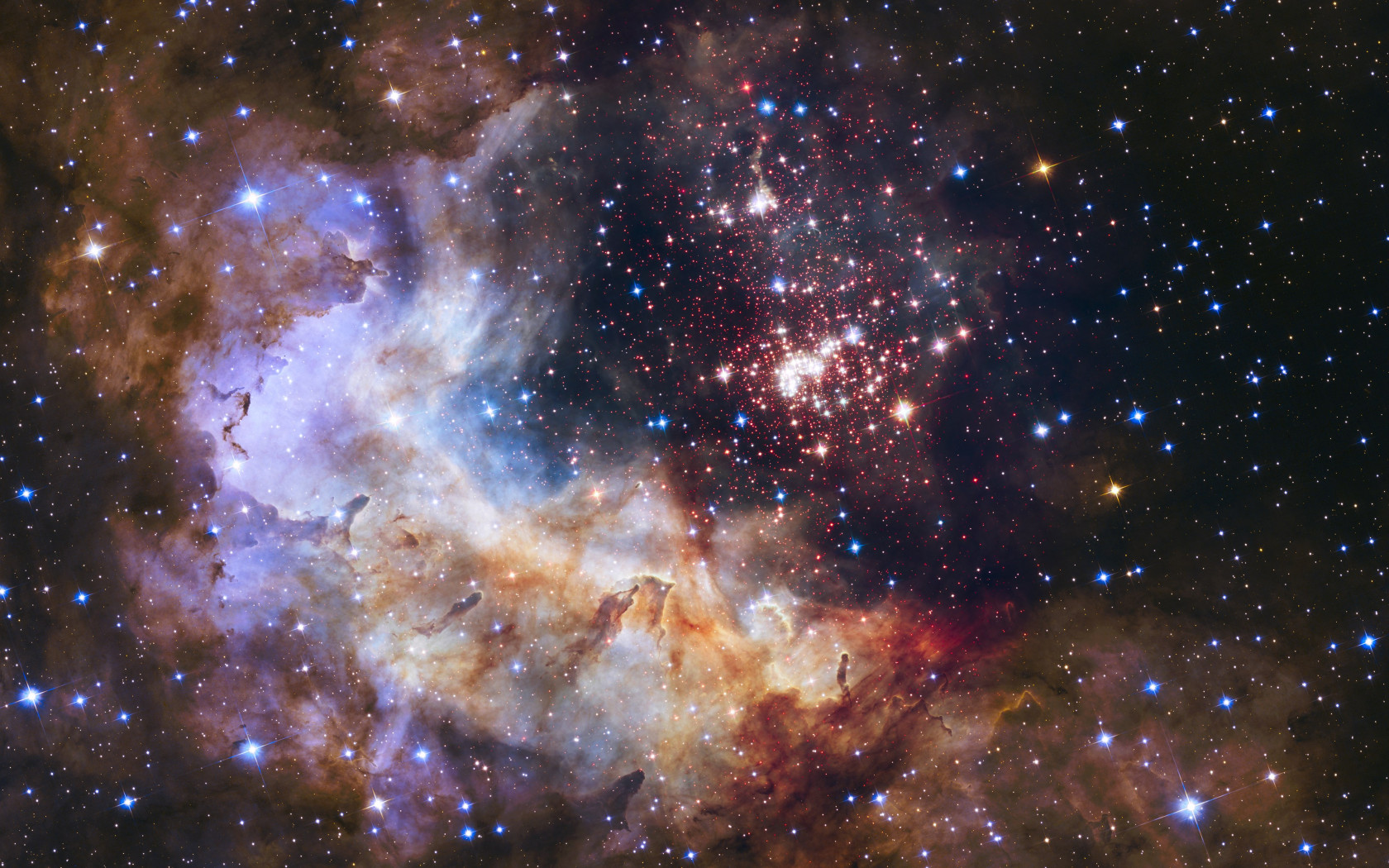 Universe seen through Hubble Space Telescope wallpaper 1680x1050