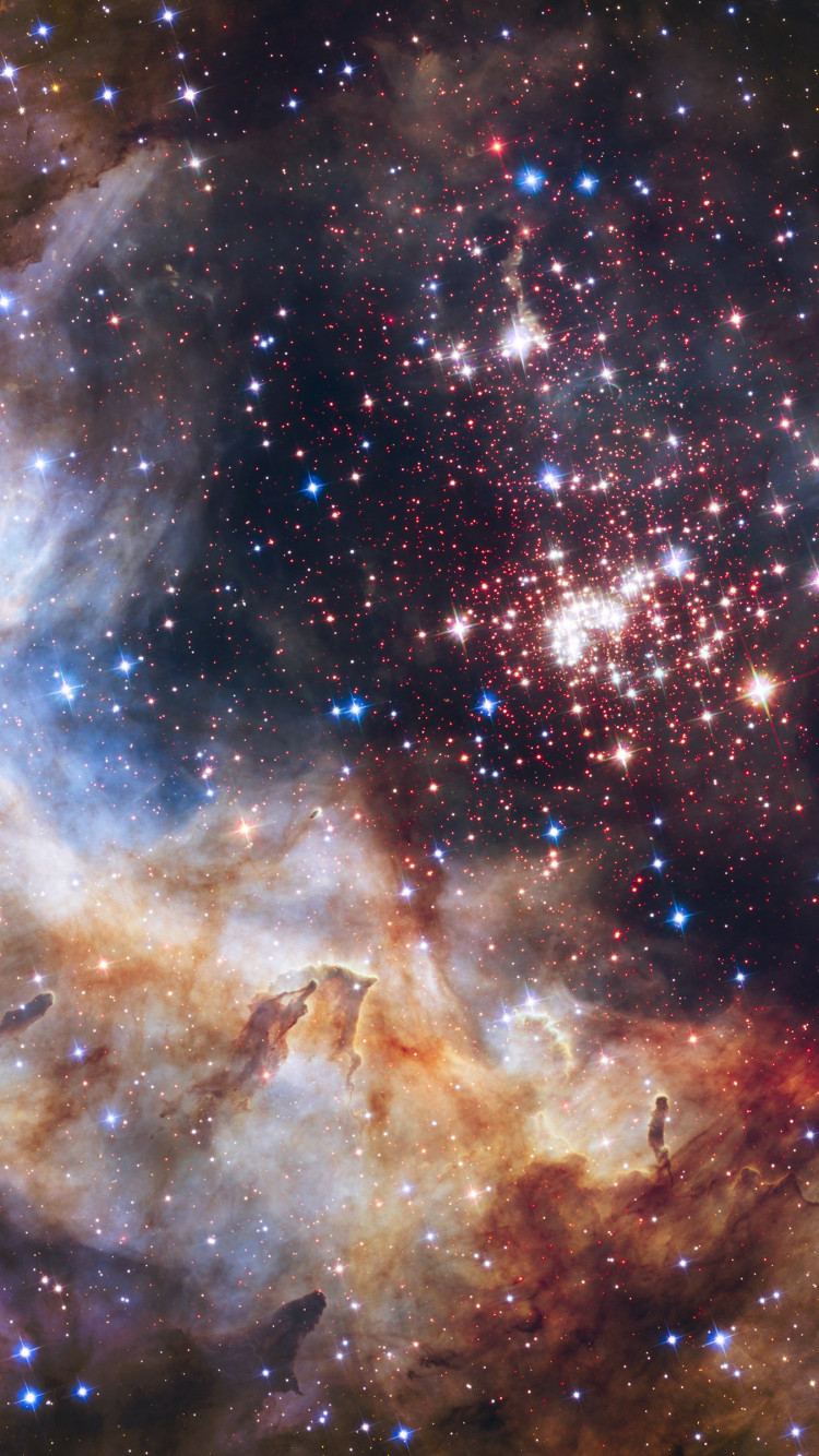 Universe seen through Hubble Space Telescope wallpaper 750x1334