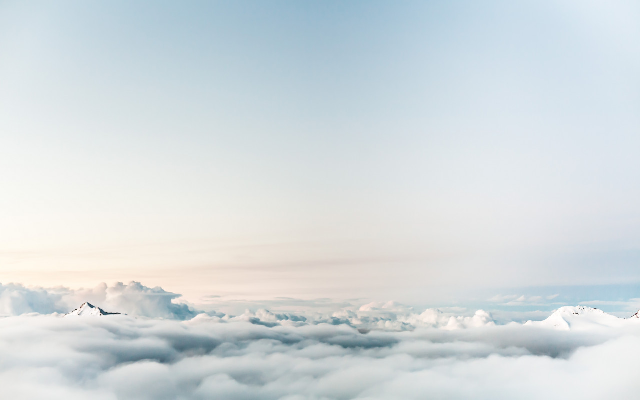 Floating on clouds | 1280x800 wallpaper
