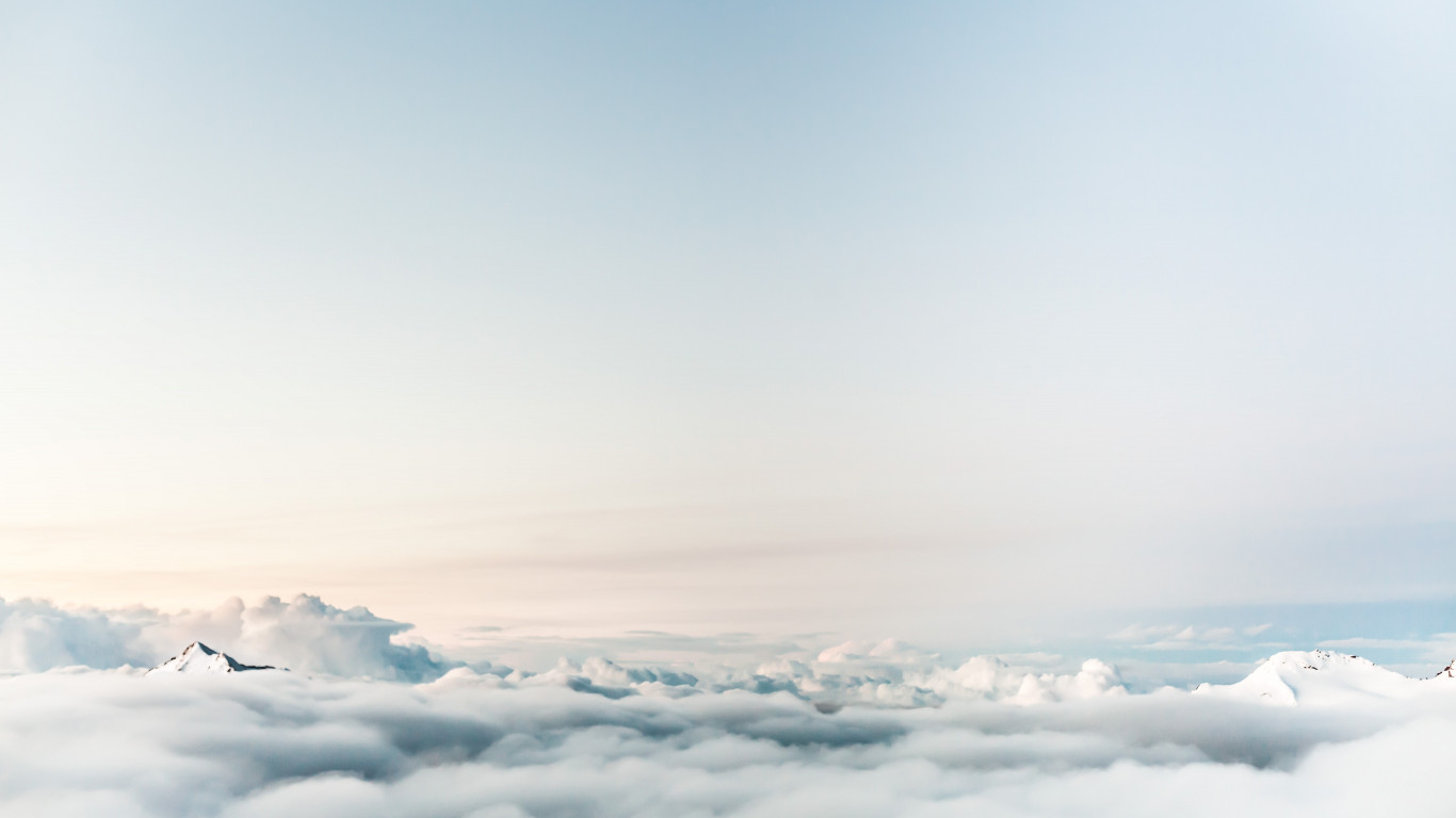 Floating on clouds wallpaper 1366x768