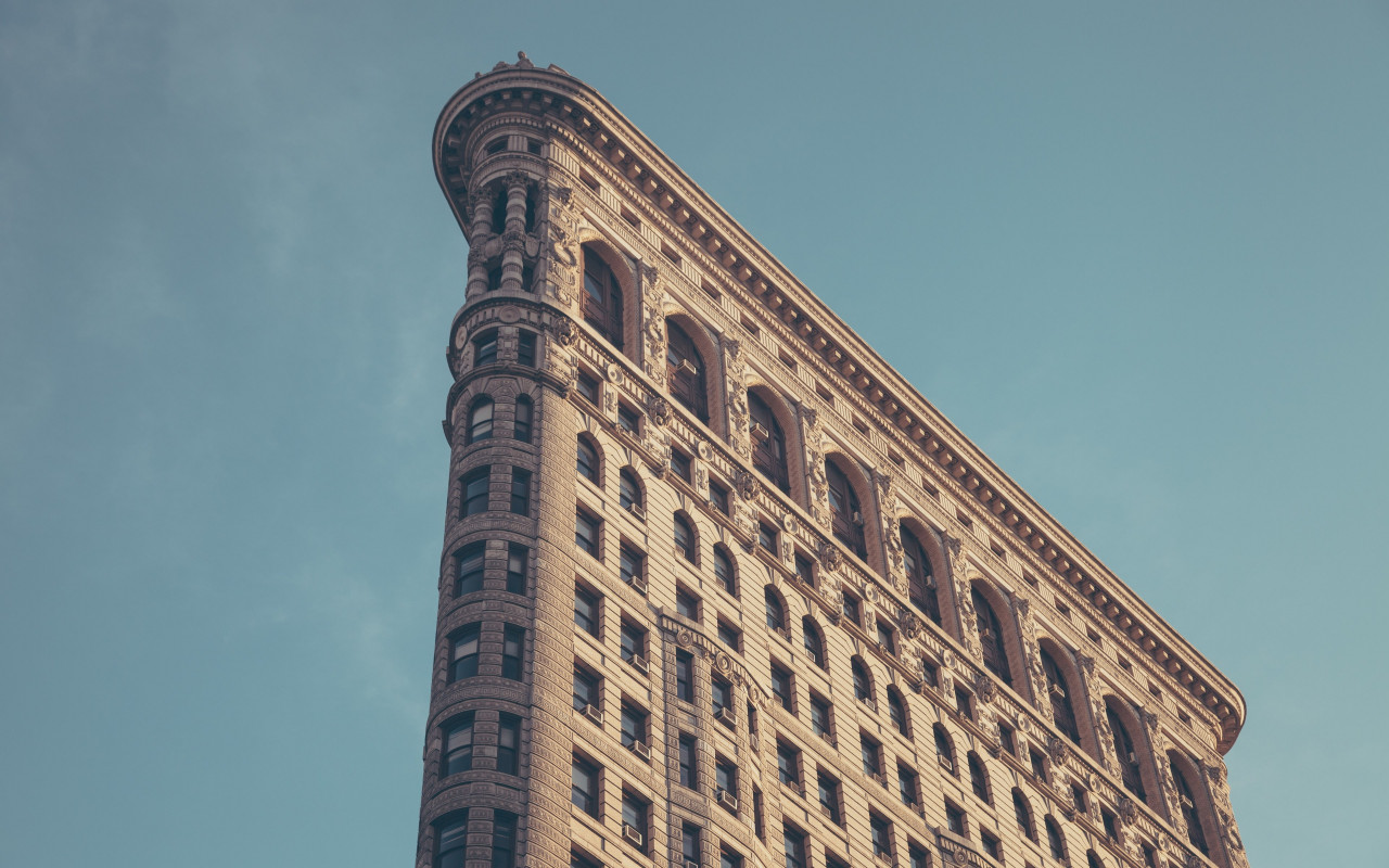 Flatiron building in New York wallpaper 1280x800