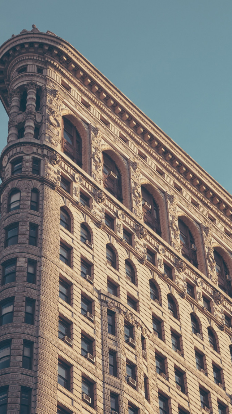 Flatiron building in New York wallpaper 750x1334