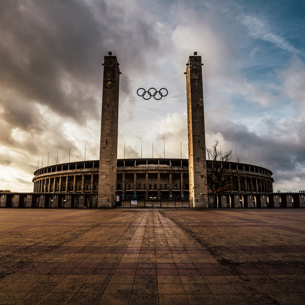 The Olympiastadion from Berlin wallpaper 1024x1024