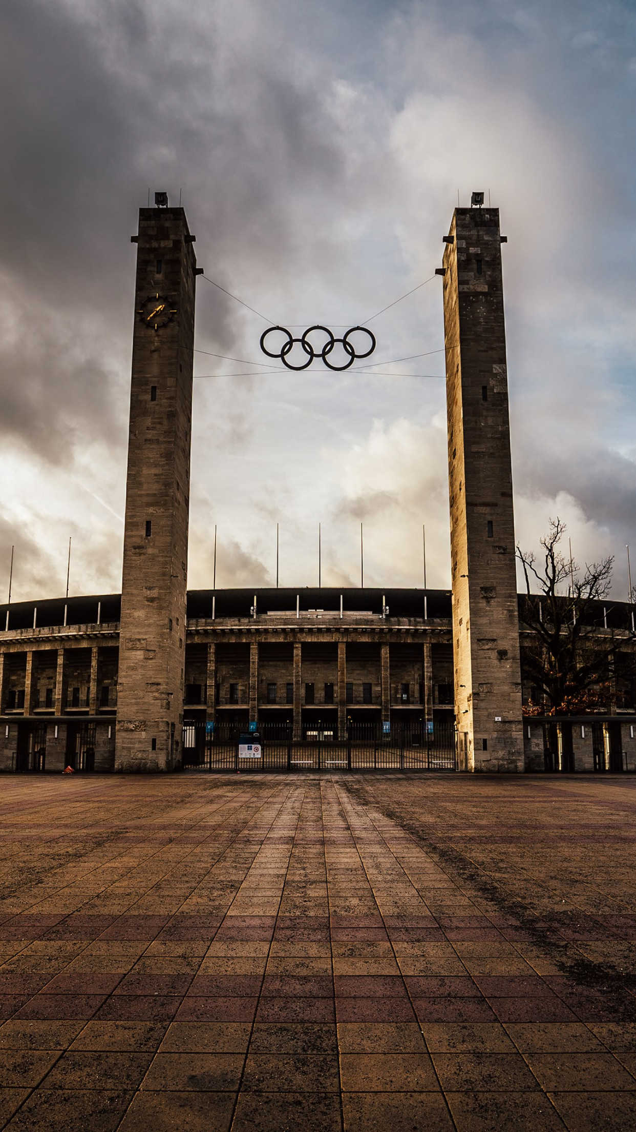The Olympiastadion from Berlin | 1242x2208 wallpaper
