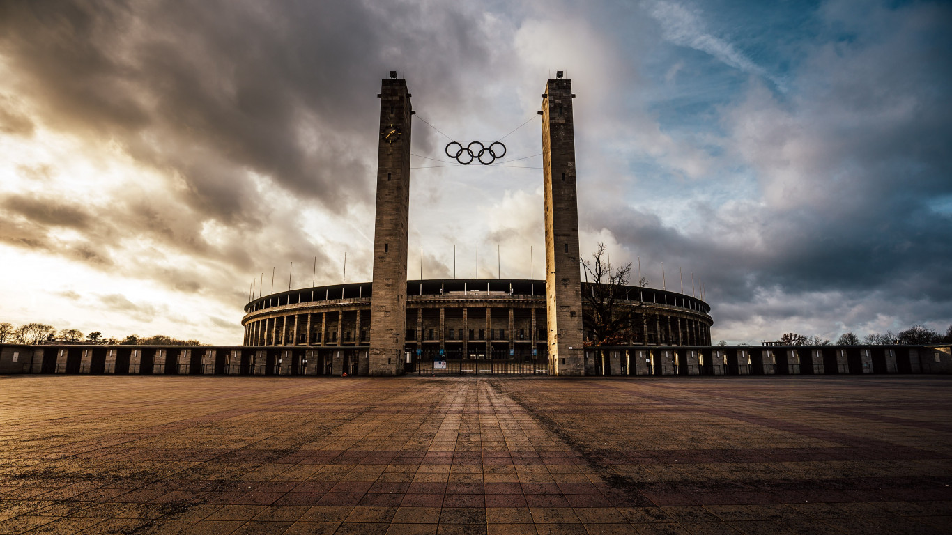 The Olympiastadion from Berlin wallpaper 1366x768