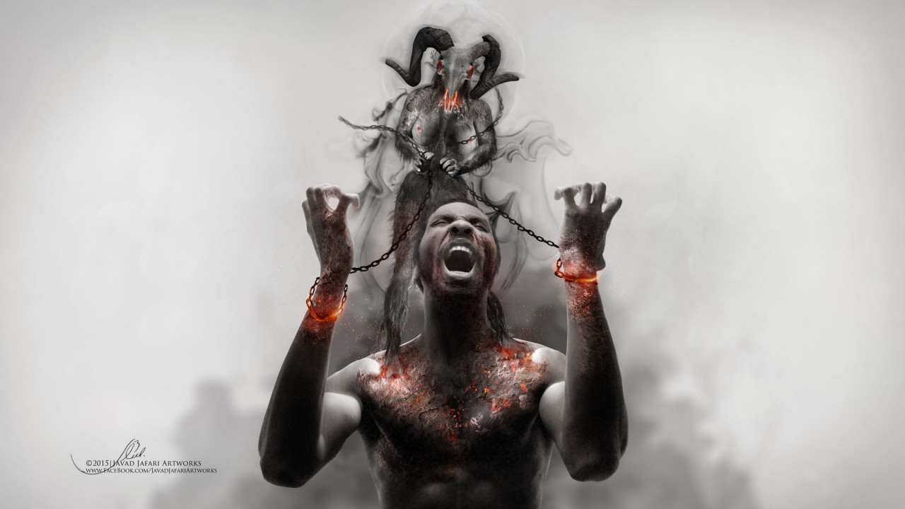 Photoshop artwork: Illustrating slavery wallpaper 1280x720