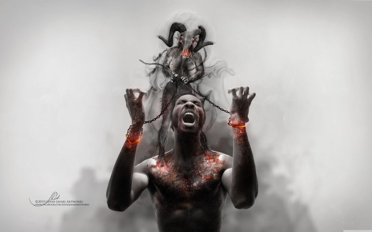 Photoshop artwork: Illustrating slavery wallpaper 1440x900