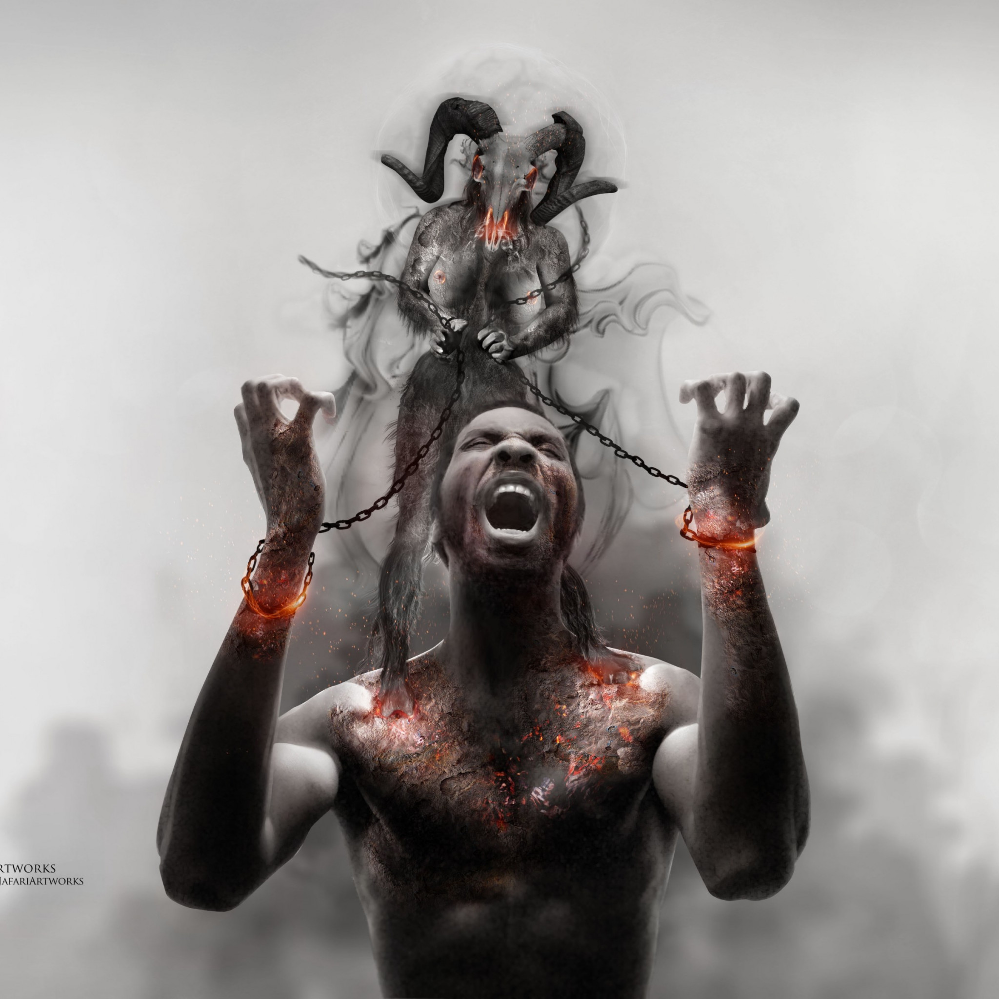 Photoshop artwork: Illustrating slavery wallpaper 2048x2048
