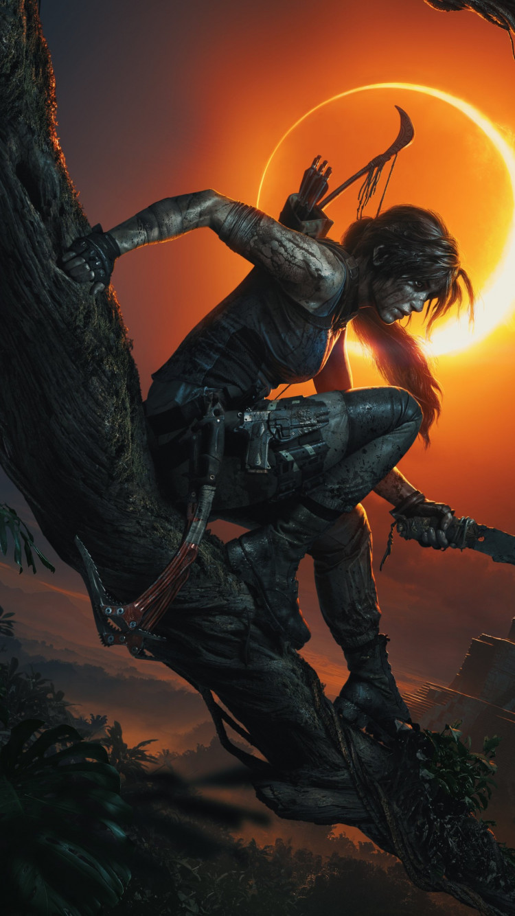 Shadow of the Tomb Raider wallpaper 750x1334