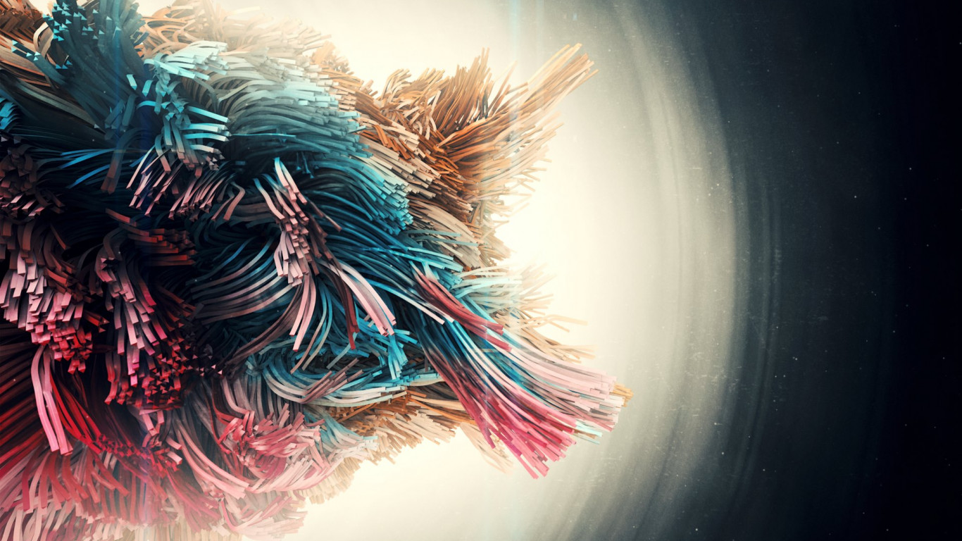 Beings abstract art wallpaper 1366x768