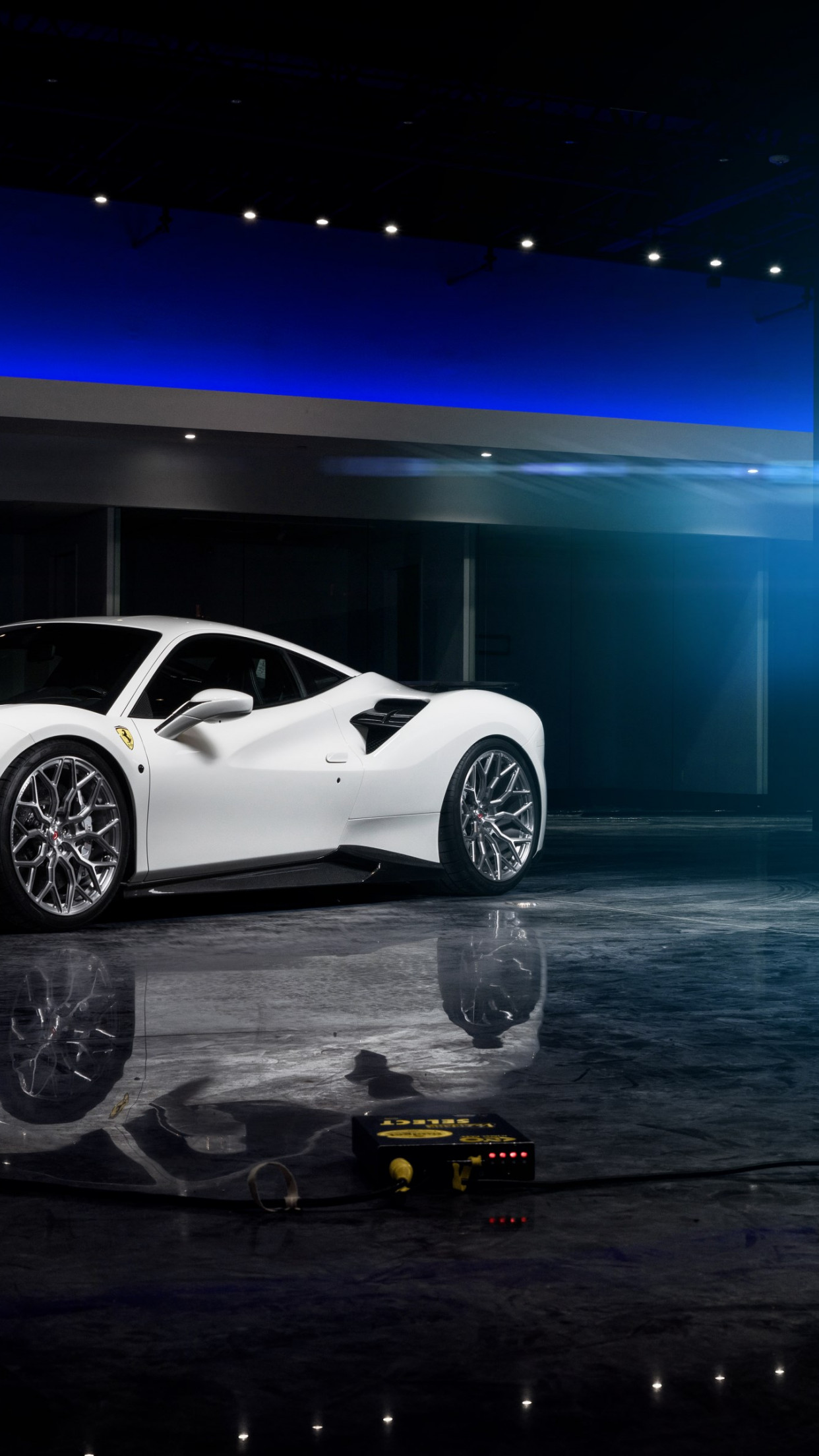 Ferrari 488 with Vossen wheels wallpaper 1242x2208