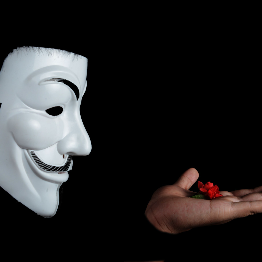 Anonymous mask | 1024x1024 wallpaper