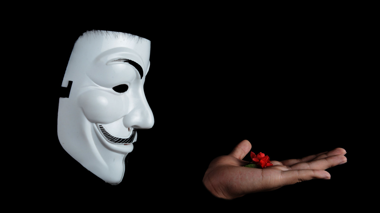 Anonymous mask wallpaper 1280x720