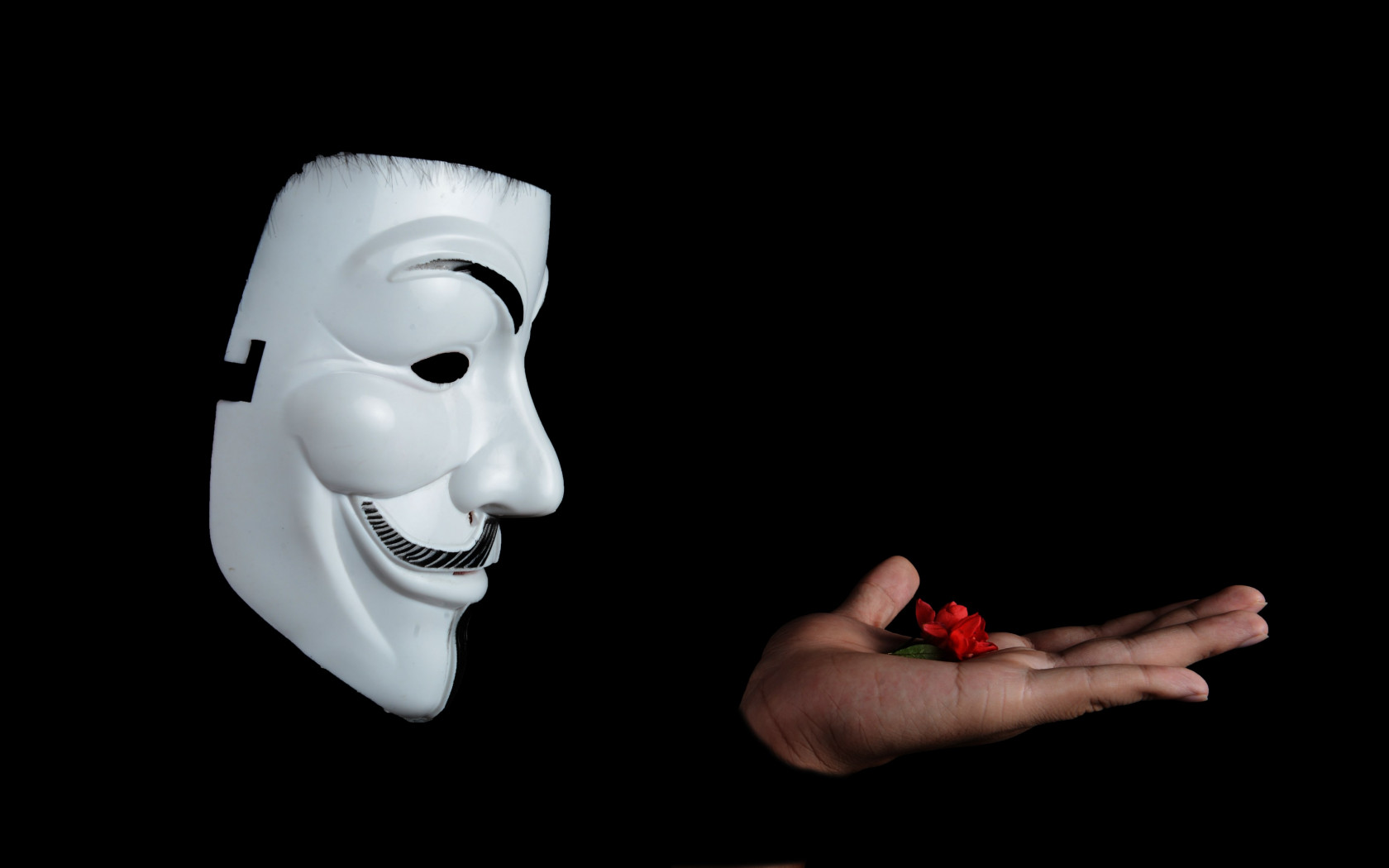 Anonymous mask | 1680x1050 wallpaper