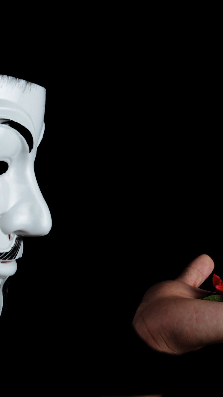 Anonymous mask wallpaper 750x1334