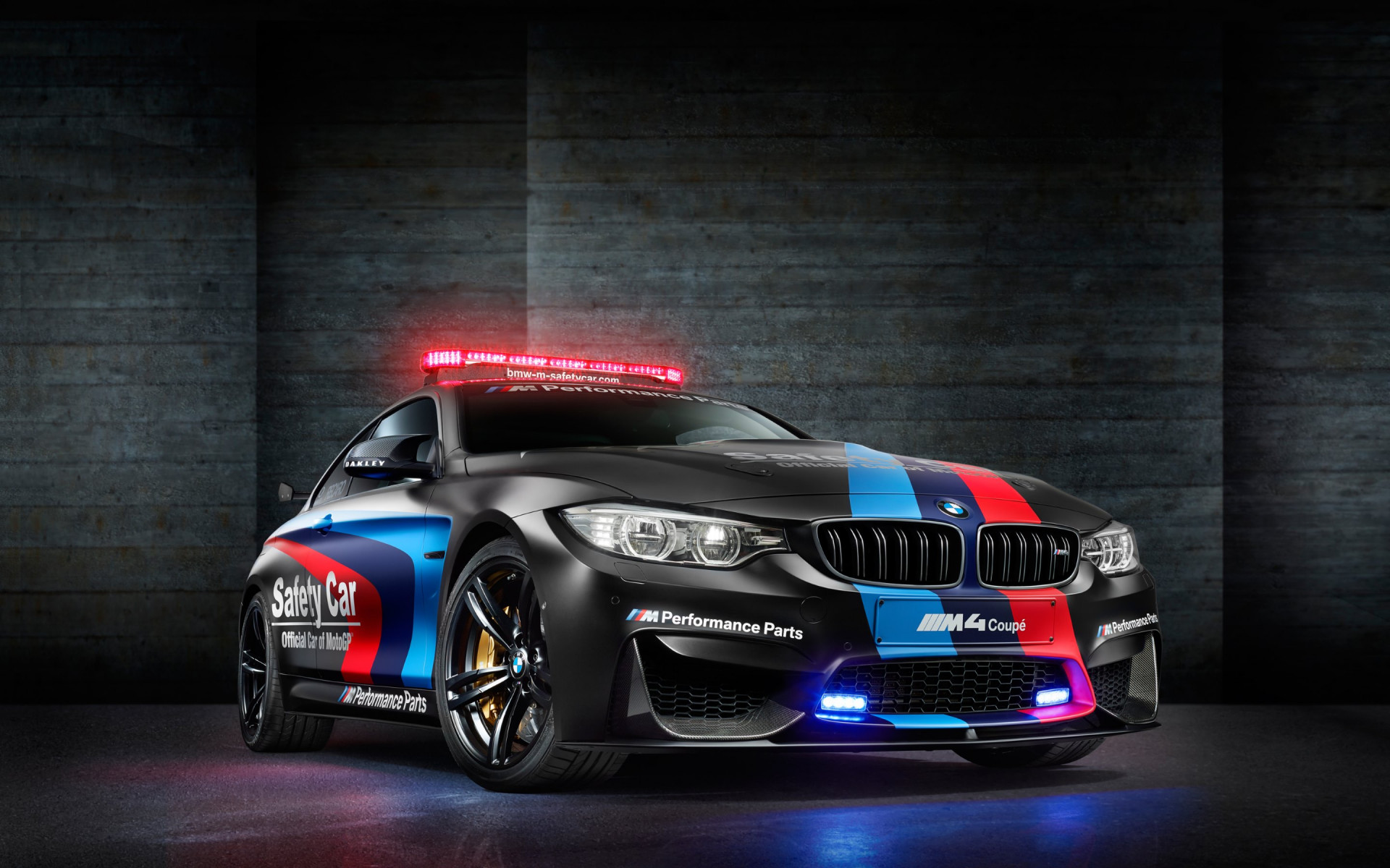 BMW M4 safety car in MotoGP wallpaper 1920x1200