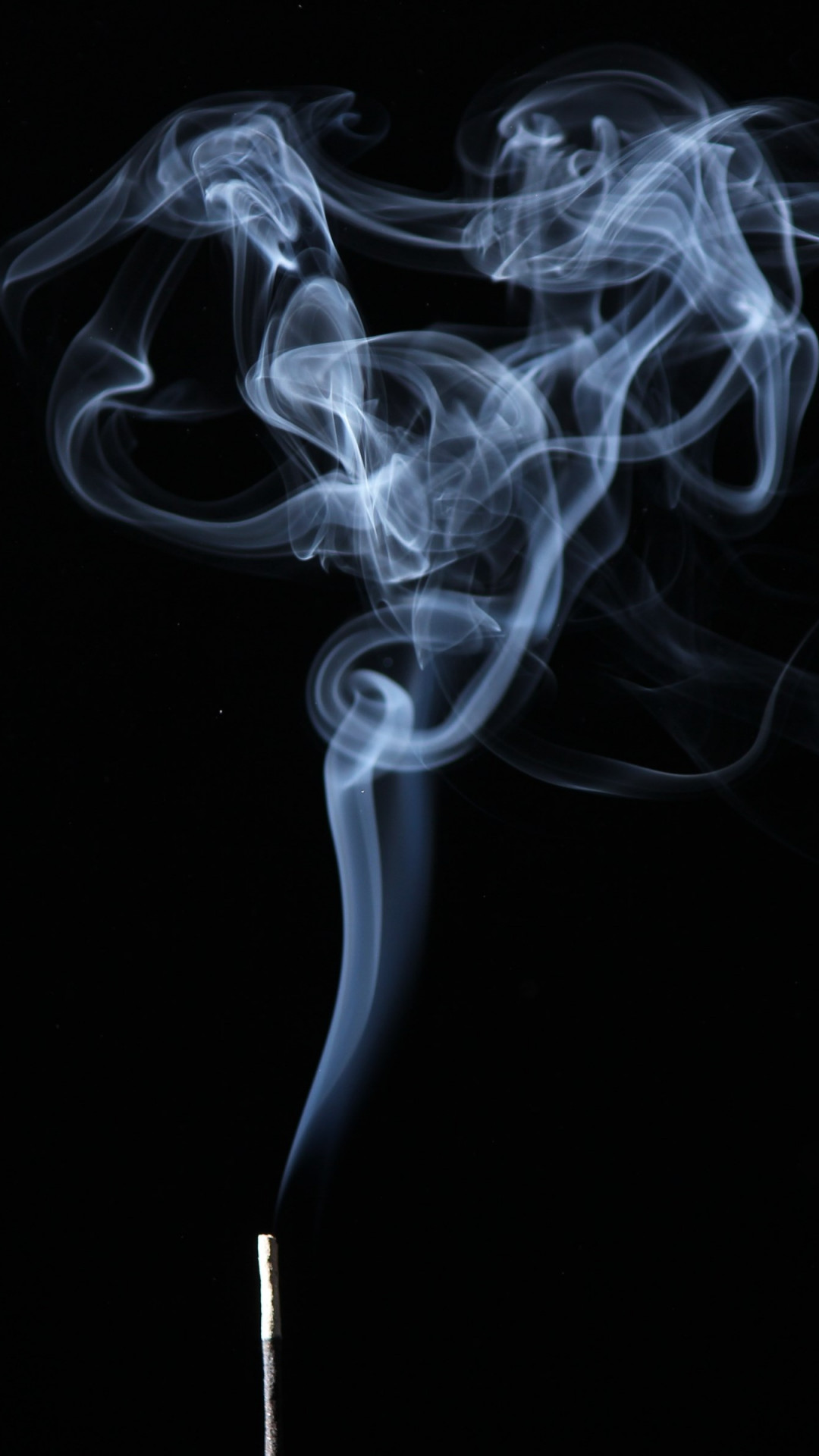 Smoke on black background wallpaper 1080x1920