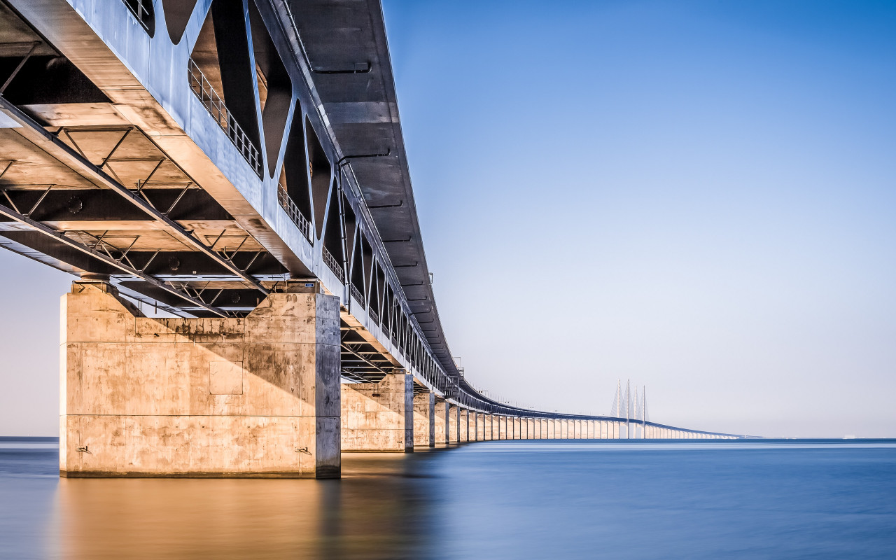 Oresund Bridge wallpaper 1280x800