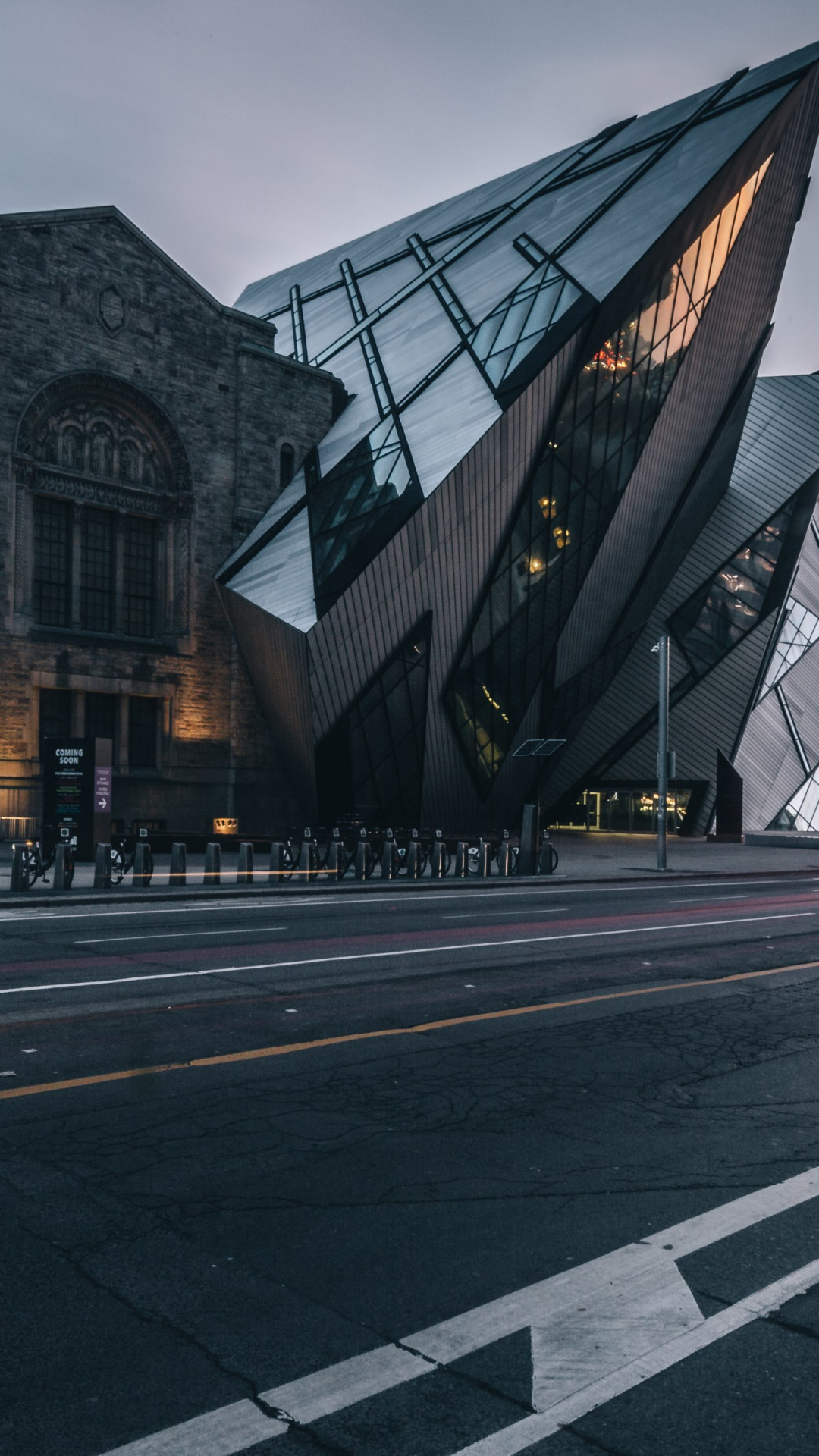 Royal Ontario Museum at sunset wallpaper 1080x1920