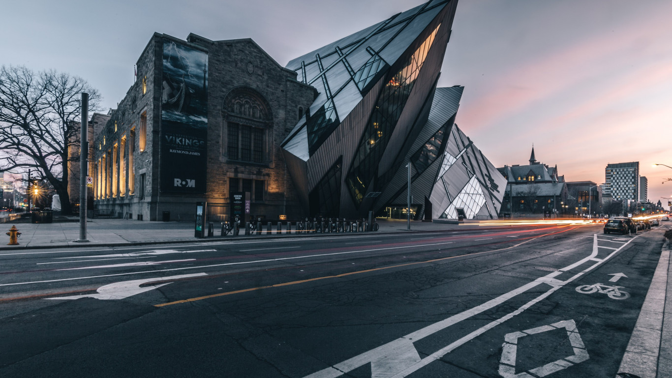 Royal Ontario Museum at sunset wallpaper 1366x768