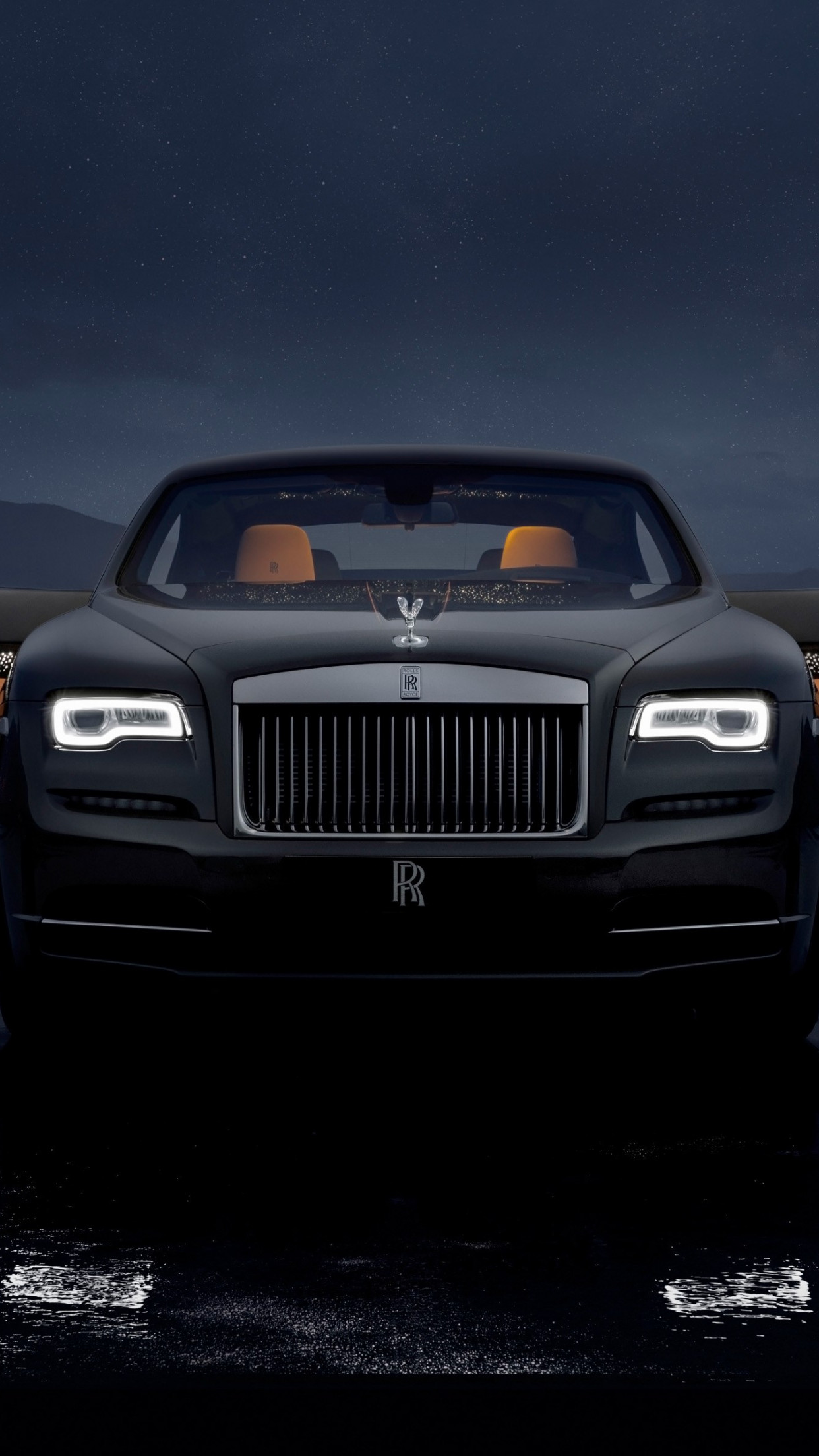 Rolls Royce Wraith Luminary Collection wallpaper 1242x2208