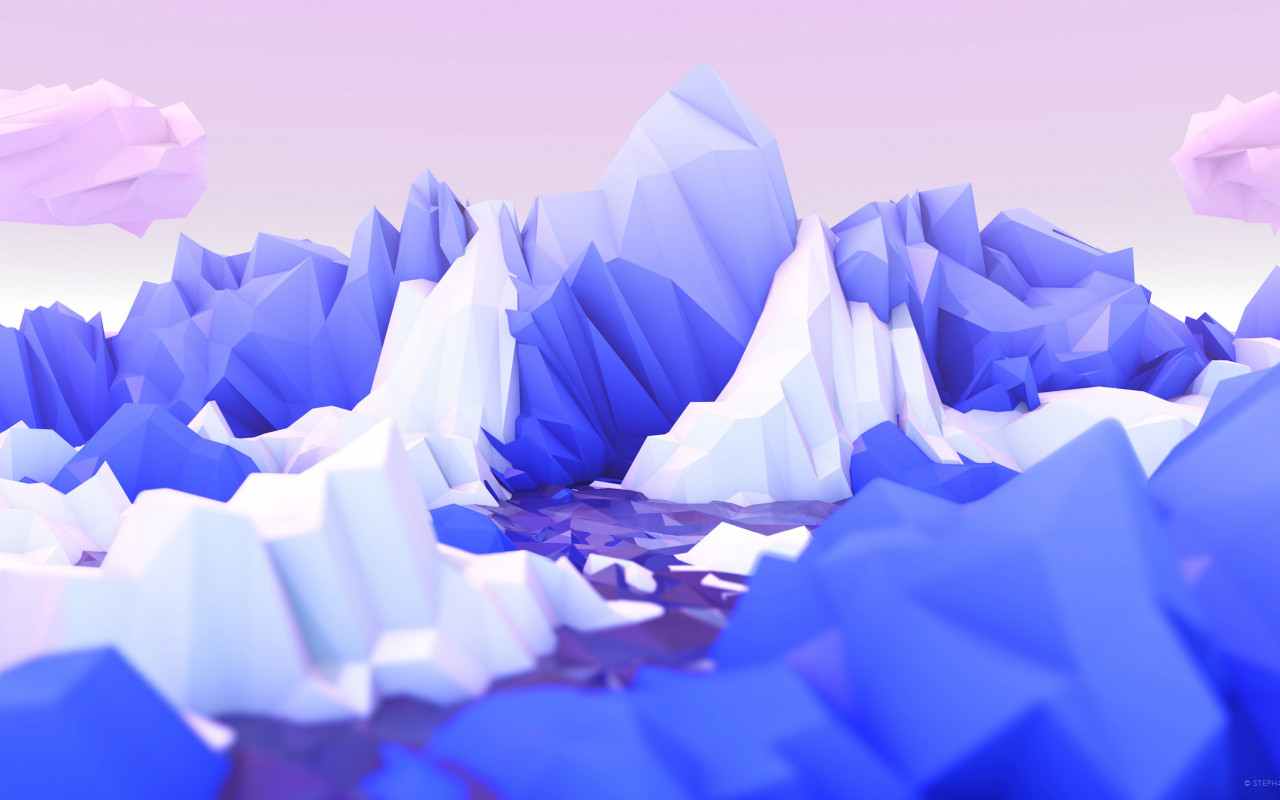 Low poly graphic design | 1280x800 wallpaper