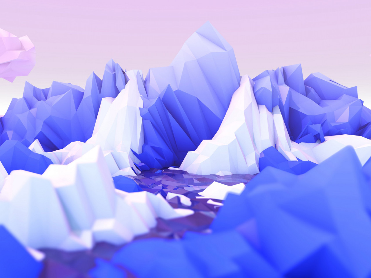 Low poly graphic design wallpaper 1280x960
