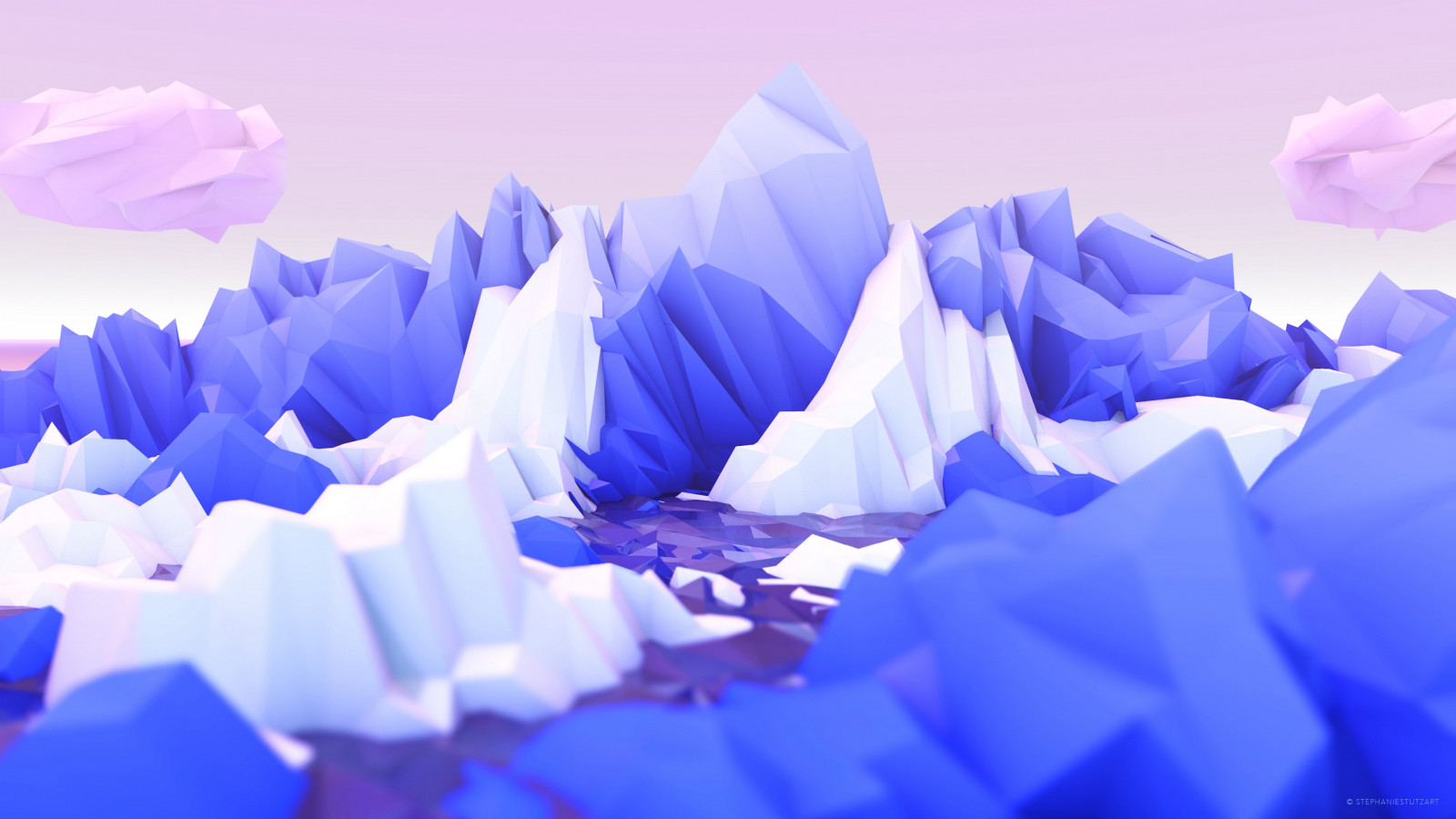 Low poly graphic design wallpaper 1600x900