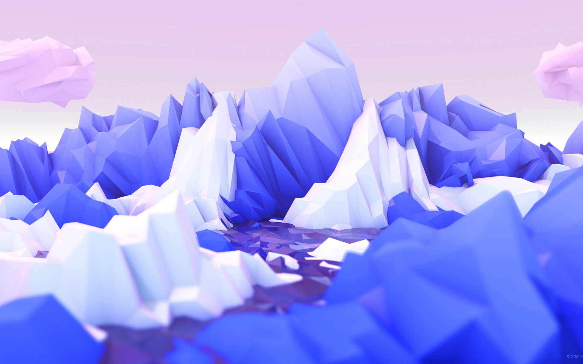 Low poly graphic design wallpaper 1920x1200