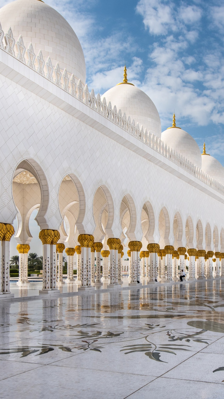 The architecture of Sheikh Zayed mosque wallpaper 750x1334