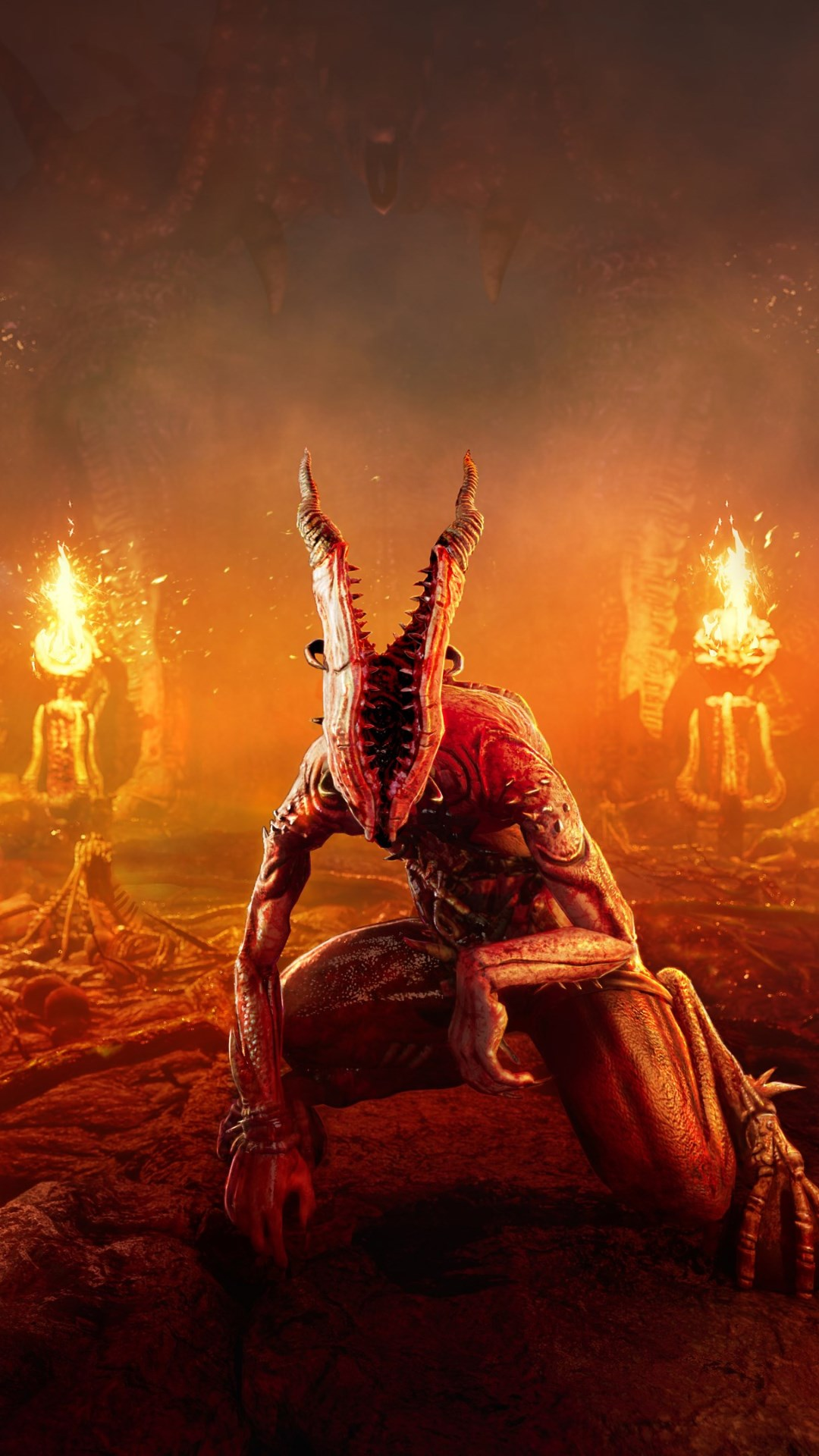 download wallpaper  agony  the video game 1080x1920