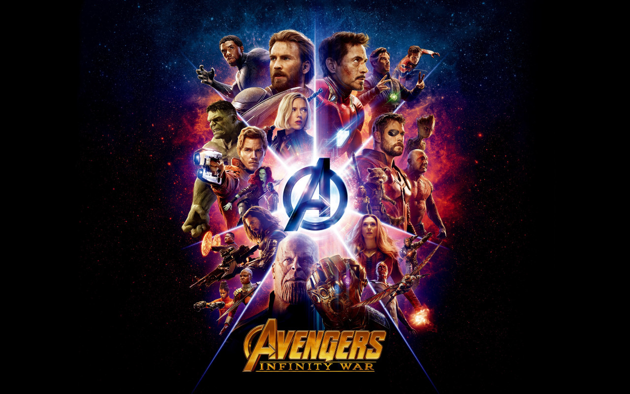 All the heroes from Avengers: Infinity War wallpaper 1280x800