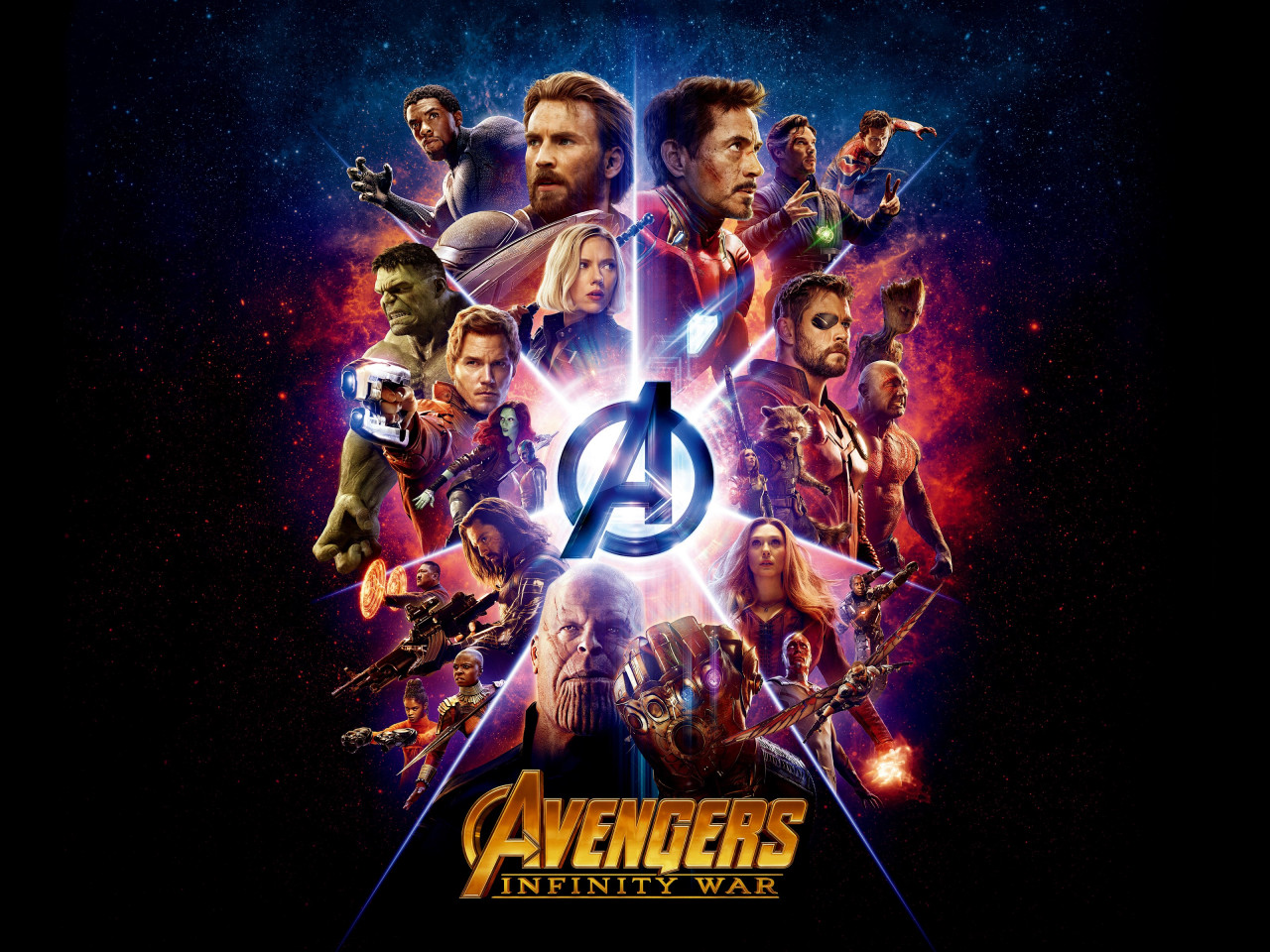 All the heroes from Avengers: Infinity War wallpaper 1280x960