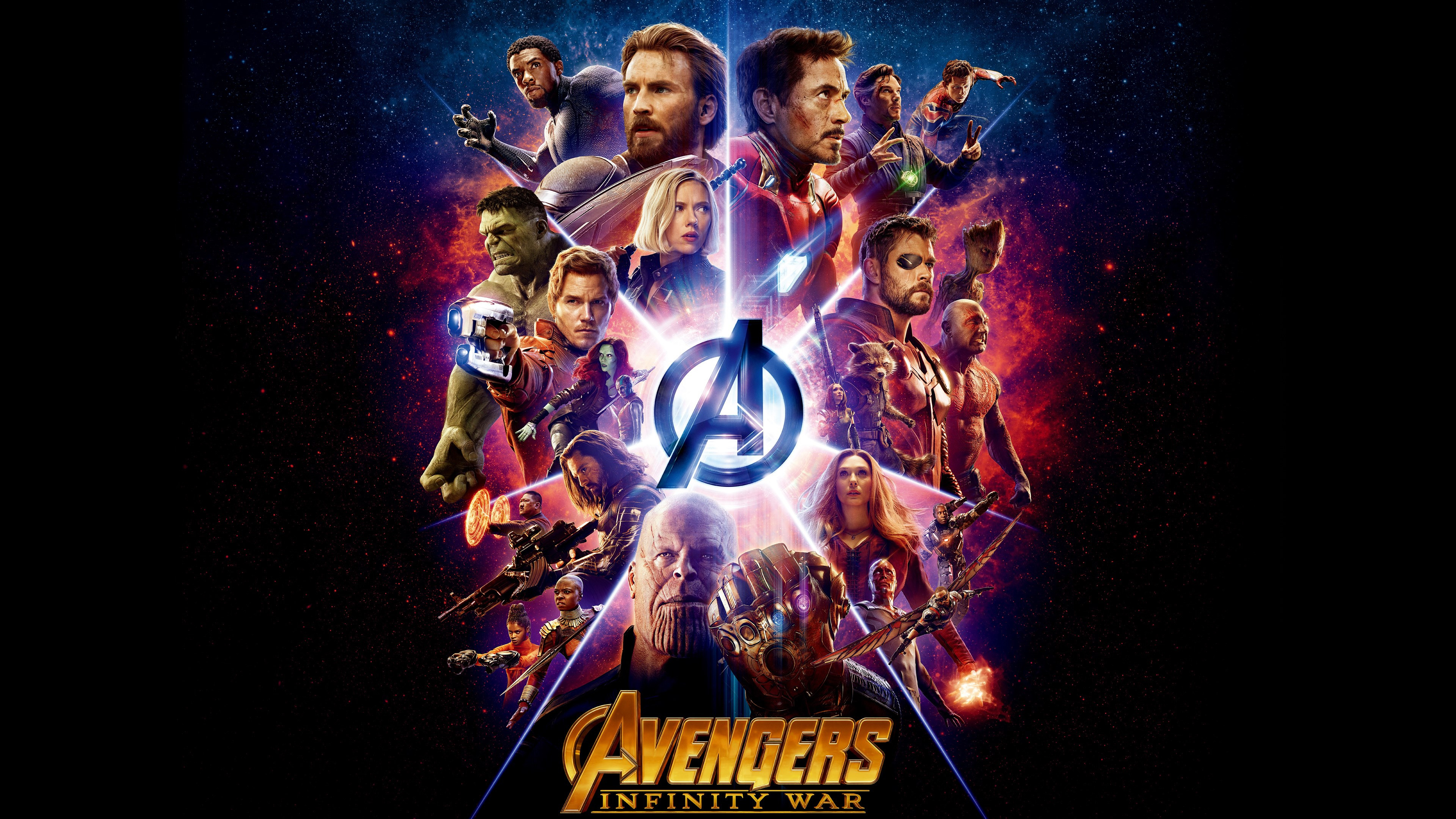 All the heroes from Avengers: Infinity War wallpaper 3840x2160