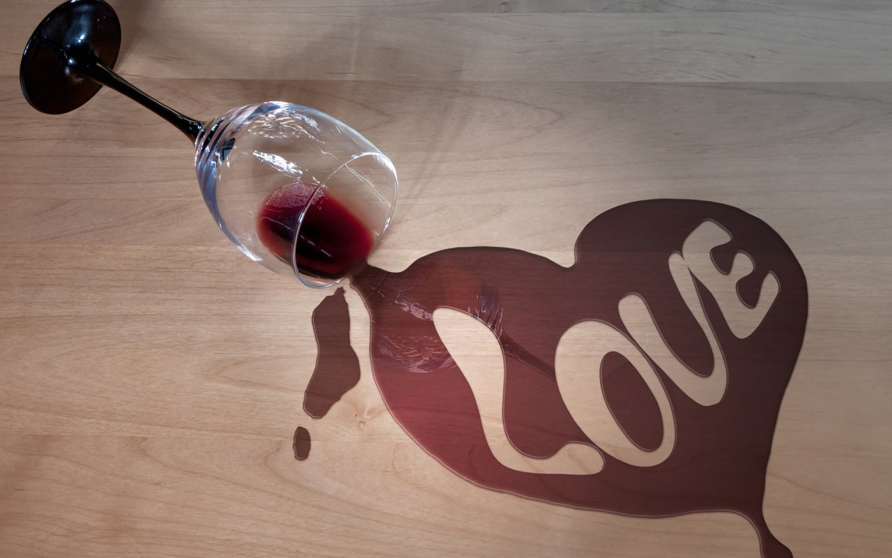 Wine and love wallpaper 1280x800