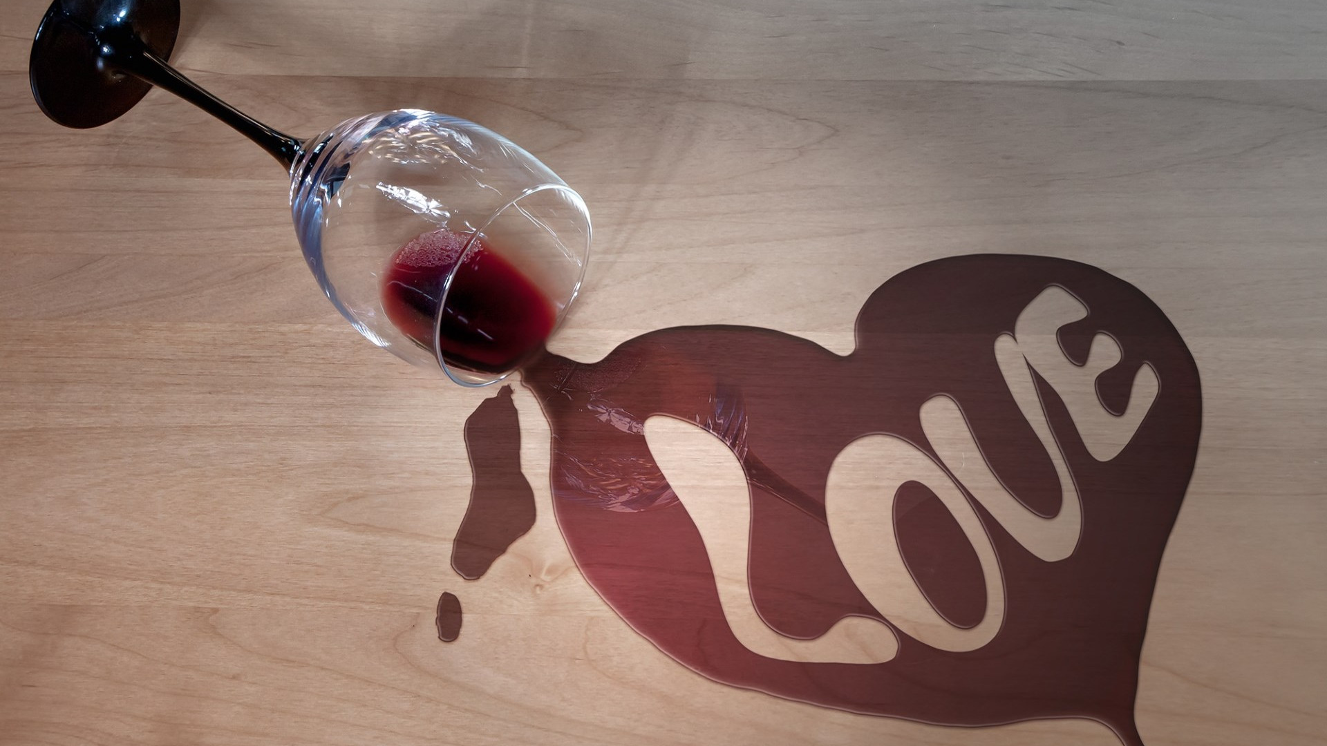 Wine and love wallpaper 1920x1080