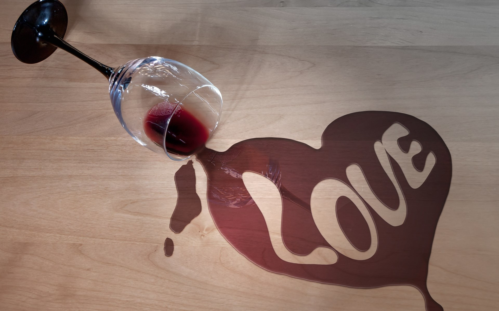 Wine and love wallpaper 1920x1200
